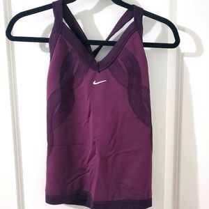 Nike Fit Dry Fitted Twist Back Activewear Tank Top